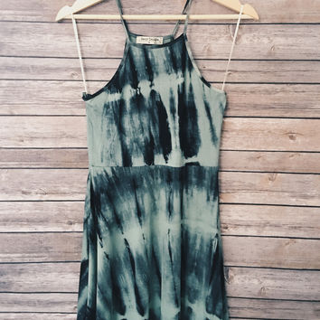 Brooke Tie Dye Dress (Green)