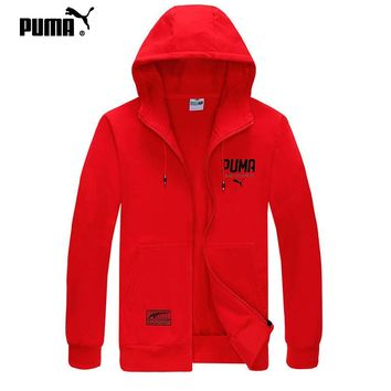 PUMA sells casual men's and women's printed hooded zippered jackets