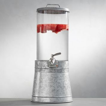 Galvanized Drink Dispenser with Stand