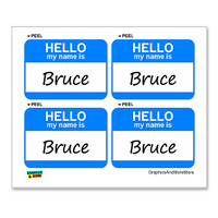 Bruce Hello My Name Is - Sheet of 4 Stickers