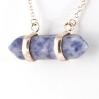 Two Line Pendant Necklace - Purple or Blue