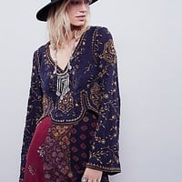 Free People Womens Embroidered Folk Festival Top