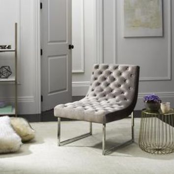 Shop Safavieh Hadley Modern Hazelwood Accent Chair at Lowes.com