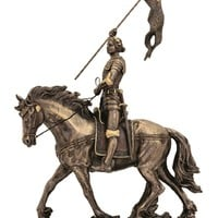 St.Joan of Arc,lightly hand-painted cold cast bronze,10x11inches