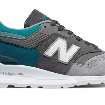 HCXX NEW BALANCE 997 Made in US Color Spectrum - Castlerock with Lake Blue