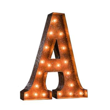 "24"" Vintage Lighted Marquee Letters (Typewriter Font)"