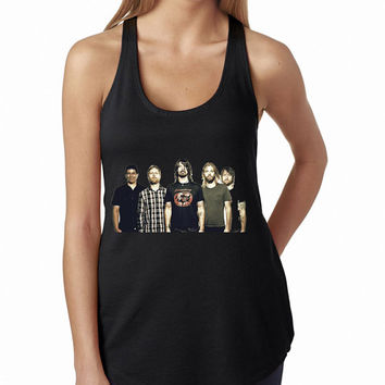 Foo Fighters Close Up Pose Tank Top, Lady Women Fit Tee, Sweater Hoodie Tshirt Tank Top