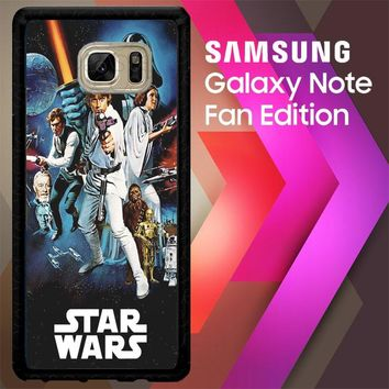Star Wars Vintage Posterstar Wars Vintage Poster L1794 Samsung Galaxy Note FE Fan Edition Case