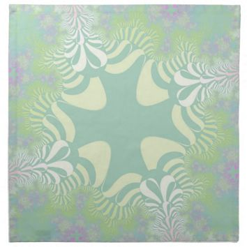 Green Pastel Star Dinner Napkins