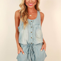 Chambray in the Cabana Romper