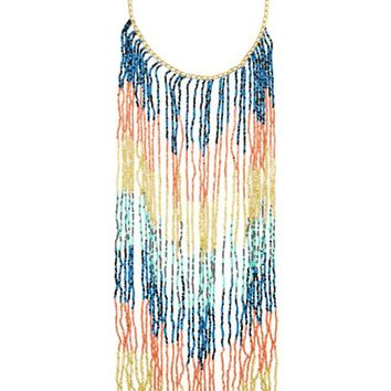 Caught Up Fringe Necklace