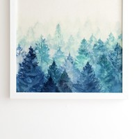 Fade Away I White Framed Wall Art Viviana Gonzalez