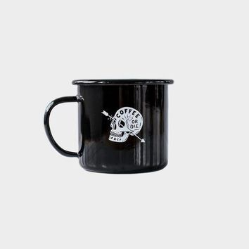 Coffee or Die - Enamel Mug