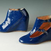 80%20 Women's Penny Wedge,Royal Blue,8 M US