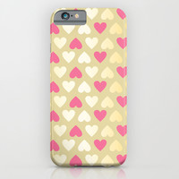 Faux Gold & Pink Hearts iPhone & iPod Case by Perrin Le Feuvre