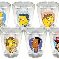 The Simpsons Moe's Tavern Shot Glass (Set of 6) - Collectible Shot Glass Set