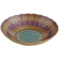 Purple & Teal Arabesque Bowl