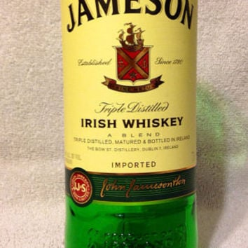 Jameson Irish Whiskey Bottle Glass Vase or Drinking Glass.