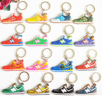 Cute Mini Silicone New Balanceer 574 Key Chain