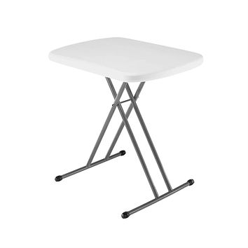 Indoor / Outdoor Folding Table with White Granite Color Plastic Top