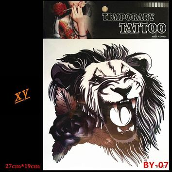 Tattoo lion Waterproof body tattoo on your shoulder