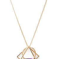 Geo Cutout Pendant Necklace