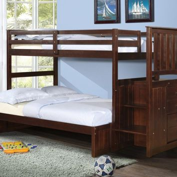 Parker Cappuccino Bunkbed with Stairs