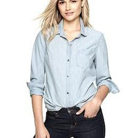 1969 chambray boyfriend shirt | Gap