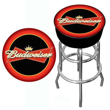 Budweiser Bowtie Red-Black Bar Stool