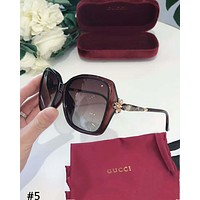 GUCCI 2019 new women's simple and versatile driving polarized sunglasses #5
