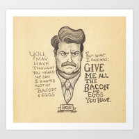 Ron Art Print by Dave Mottram's Store