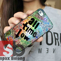 All Time Low Quotes for Samsung S3, S4 and iPhone 4/4S, 5/5S, 5C - Hard Plastic Case, Rubber Case