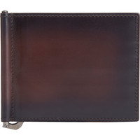 Burnished Bi-Fold Wallet With Money Clip