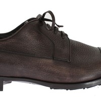 Dolce & Gabbana Brown Leather Dress Formal Derby Shoes