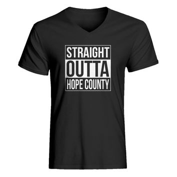 Mens Straight Outta Hope County Vneck T-shirt