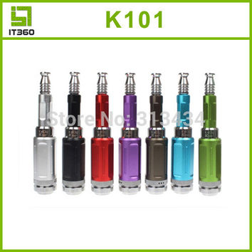 freeshipping E Cigarette Kits eCig K101 K100 Electronic Cigarettes with Clone Atomizer Detachable Large Vapor 18650/18350Battery