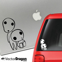 Princess Mononoke Kodamas Studio Ghibli Vinyl Decal for Laptop or Car