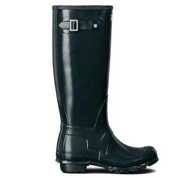 Hunter Original Tall   Gloss Ocean Tall Rain Boot