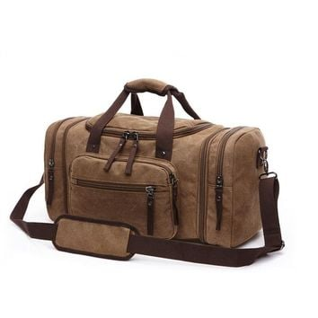 """Sindermore new 4-color 22"""" large-capacity extended canvas men travel bags hand luggage duffle bag"""