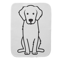 Golden Retriever Dog Cartoon Burp Cloth