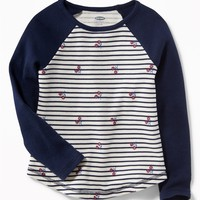 Color-Blocked Thermal Tee for Toddler Girls  old-navy