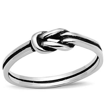 WildKlass Stainless Steel Promise Ring High Polished (no Plating) Women