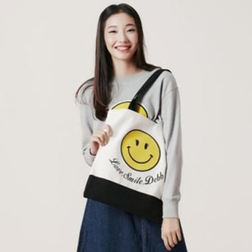 Korean Lovely Cartoons Canvas Tote Bag Bags Shoulder Bag [8269842631]
