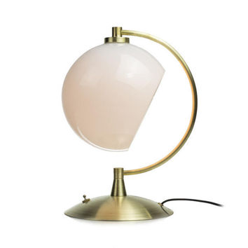 Handblown Glass Phase Desk Lamp