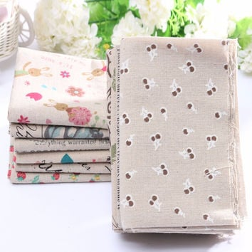 Handmade Cotton Fabric Striped Linen Canvas Cloth Patchwork Decoration Groceries Printed Fabric For Sewing Home Supplies