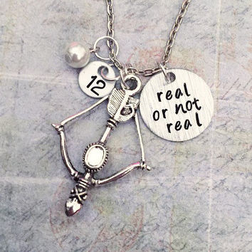 Real Or Not Real Necklace, Fandom Necklace, Fandom Jewelry, Fangirl Jewelry, Fangirl Necklace