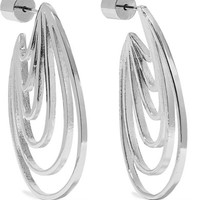 Jennifer Fisher - Rainbow Huggie silver and rhodium-plated earrings