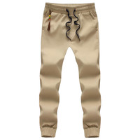 Hot Selling 2016 Spring Autumn Mens Joggers Pants Casual Solid Ankle-tied Youths Men Trousers Kids Pants(Asian Size)