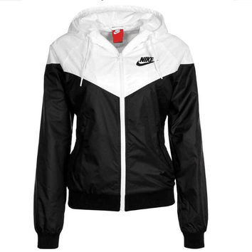 """NIKE"" Hooded Zipper Cardigan Windbreaker Sweatshirt Jacket Coat Sportswear"