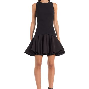 Zaha Drop Waist Mini Dress - Black